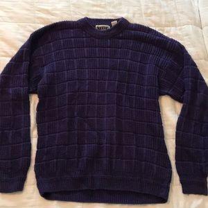 Vintage purple men's sweater large